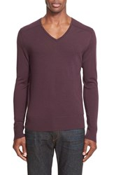 John Varvatos Men's Collection Merino Wool V Neck Pullover