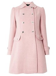 Dorothy Perkins Pink Button Dolly Double Breasted Coat