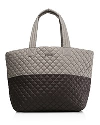 M Z Wallace Mz Oxford Metro Large Color Block Tote Paloma Gray Brown