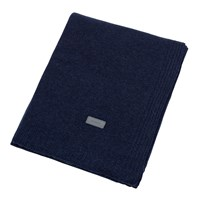 Gant Light Cable Knit Throw 130X180cm Yankee Blue