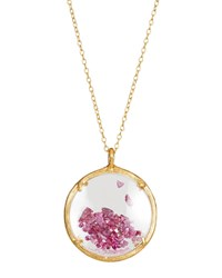 Catherine Weitzman Shaker Birthstone Pendant Necklace July Ruby