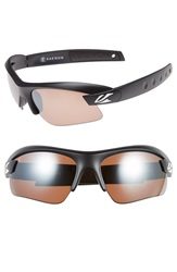 Kaenon 'X Kore' 69Mm Polarized Sunglasses Matte Black White C12 Brown