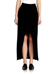 Akris Asymmetrical Long Skirt Black