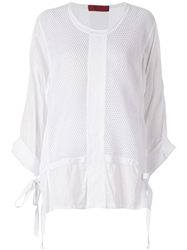 Di Liborio Mesh Panel Blouse White