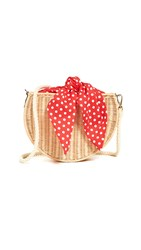 Kayu Dylan Wicker Crossbody Honey Red Polka Dot