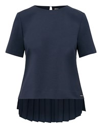 Ted Baker Naevaa Pleated Back Top Navy