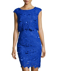 Jax Lace Cap Sleeve Dress Electric Blue