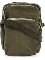 Guidi Zipped Shoulder Bag Green