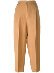 Sportmax High Waisted Trousers Nude Neutrals