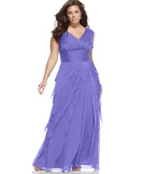 Adrianna Papell Plus Size Tiered Empire Gown Perri