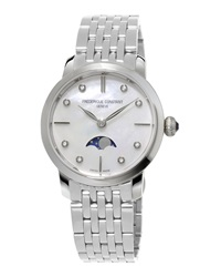Ladies' Slimline Moonphase Stainless Watch Frederique Constant
