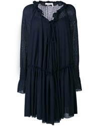 See By Chloe Pleated Dress Women Cotton Polyester S Blue
