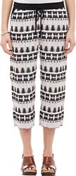 Thakoon Addition Jacquard Cropped Pants Multi Size 4 Us