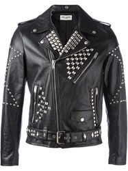 Saint Laurent Classic Studded Motorcycle Jacket Black