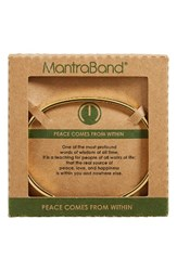 Mantraband Women's Peace Comes From Within Engraved Gold