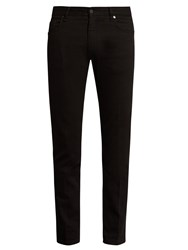 Fendi Embellished Slim Leg Jeans Black