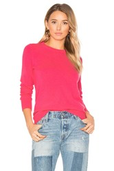 White Warren Classic Crew Neck Sweater Pink