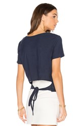 Nation Ltd. Alexandra Tie Back Tee Blue