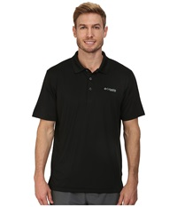 Columbia Low Drag Polo Black Gulf Stream Men's Short Sleeve Pullover