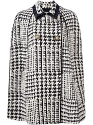 Fausto Puglisi Houndstooth Cape Nude And Neutrals