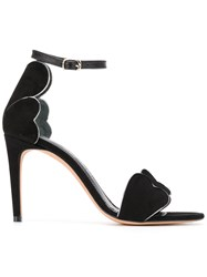 Jean Michel Cazabat Stiletto Open Toe Sandals Black