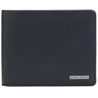 Boss Logo Boss Leather Sarpey Textured Wallet Navy
