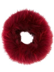 Mr And Mrs Italy Fuzzy Hair Scrunchy Red