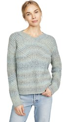 Club Monaco Watercolor Yarn Sweater Blue Mix