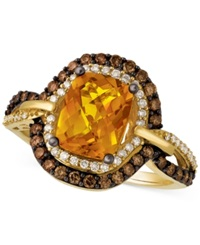 Le Vian Citrine 1 9 10 Ct. T.W. And Diamond 2 3 Ct. T.W. Ring In 14K Gold Orange