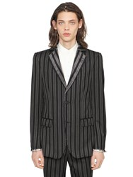 Alexander Mcqueen Striped Wool Jacket