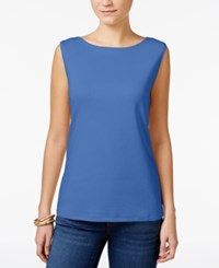 Karen Scott Petite Boat Neck Tank Top Only At Macy's Regatta Blue