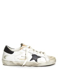Golden Goose Super Star Low Top Animal Print Leather Trainers Multi
