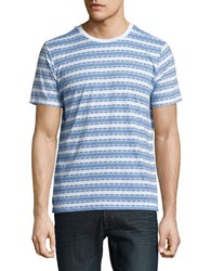 Sovereign Code Striped Cotton Blend Tee White Navy