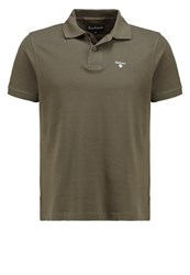Barbour Polo Shirt Dark Olive Classic