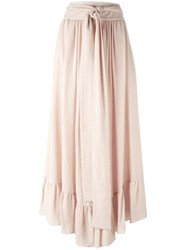 See By Chloe Ruffle Hem Maxi Skirt Pink Purple