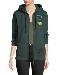 Coach Disney X Sneezy Embroidered Graphic Hoodie Green