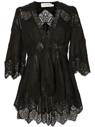 Zimmermann 'Empire Virtue' Blouse Black