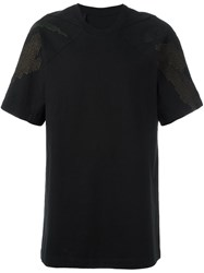 11 By Boris Bidjan Saberi Embroidered Short Sleeve T Shirt Black