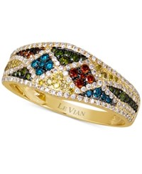 Le Vian Exotics Multi Color Diamond Ring 5 8 Ct. T.W. In 14K Gold