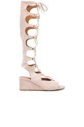 Chloe Chloe Suede Gladiator Wedges In Neutrals