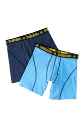 Adidas Athletic Stretch Boxer Brief Pack Of 2 Blue