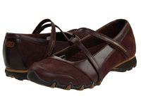 Skechers Bikers Step Up Toffee Leather Women's Shoes Brown