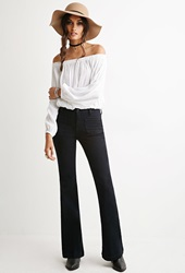 Forever 21 Clean Wash Flare Jeans Indigo