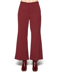 Rosetta Getty Cropped Straight Flare Trousers Red