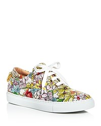 Moschino Floral Lace Up Sneakers White