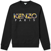 Kenzo Embroidered Paris Logo Crew Sweat Black