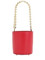 Les Petits Joueurs Baby Olivia Smooth Leather Bucket Bag Ruby