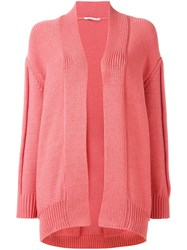 Agnona Open Cardigan Pink Purple