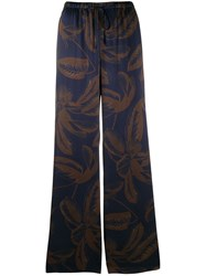 Vince Wide Leg Trousers Blue