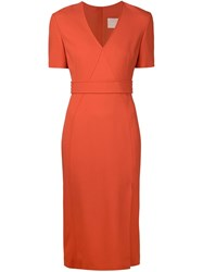 Jason Wu Fitted Dress Yellow And Orange